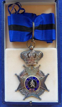 Order of Leopold II Commander's neck badge; Type 2, 1908-1951 unilingual (French); in case of issue.