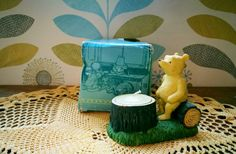 Vintage Winnie the Pooh, Disney Classic Pooh gifts collectible figurine tealight candle holder Classic pooh sculpture Winnie the Pooh figure