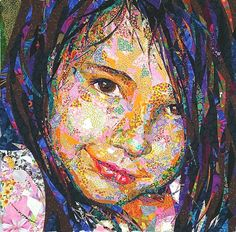 """Danny Amazonas is celebrated in the quilt world for his """"quiltportrait"""" works of art. These beauties consist of thousands of tiny pieces of ..."""