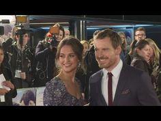The Light Between Oceans - Michael Fassbender, Alicia Vikander - UK Premiere Interviews - YouTube