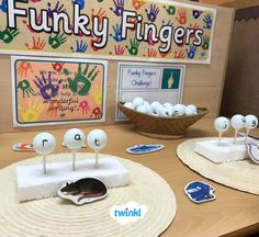This funky fingers display pack is great to liven up any display board whilst reminding your children about funky fingers! Year 1 Classroom, Early Years Classroom, Eyfs Classroom, Classroom Layout, Classroom Displays, Fine Motor Activities For Kids, Motor Skills Activities, Phonics Activities, Phonics Lessons
