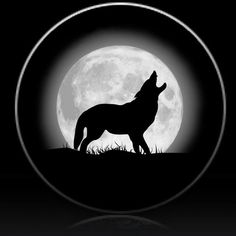 Wolf and Silvery Moon Spare Tire Cover-Custom made to your exact tire size - 235/75r15