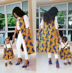 Beautiful Mother and Daughter Ankara Style . Beautiful Mother and Daughter Ankara Style African Attire, African Wear, African Fashion Dresses, African Dress, African Kids, Ankara Fashion, Nigerian Fashion, African Outfits, African Style