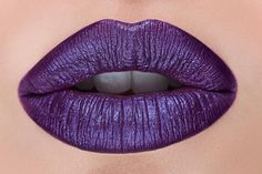 @danabomar plump lips in LEWD lipstick!  How do you feel about a iridescent purple lipstick with hints of blue? We feel quite good about it! We're in Love #meltlewd #meltcosmetics by meltcosmetics