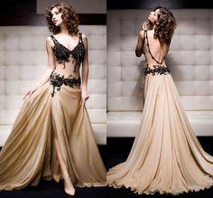 2014 Custom Made Applique Formal Prom Ball Evening Gowns Dresses custom all size #Handmade #Formal