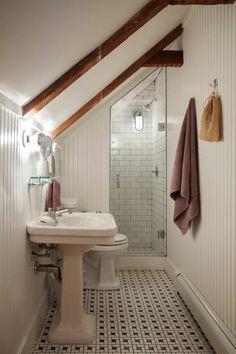 Under stair shower h for the home garden pinterest stairs under stairs and showers - Fliesenkombinationen bad ...