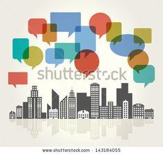 City Speech Bubbles by VLADGRIN, via ShutterStock