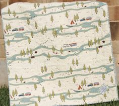 Baby Quilt Camping Hiking Woodland Forest Boy by SunnysideDesigns2