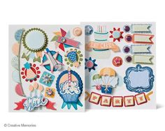 Happy Birthday Layered Stickers from Creative Memories - Available while supplies last until February 2013.