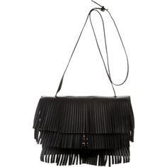 Proenza Schouler Fringe Small Lunch Bag ($745) ❤ liked on Polyvore featuring bags, handbags, shoulder bags, black, fringe shoulder bag, man leather shoulder bag, handbags purses, hand bags and leather hand bags