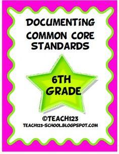 English language arts free back to school ebook grades 6 12 tpt documenting common core standards math la 6th grade fandeluxe Images