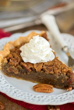 This Brown Butter Brown Sugar Pecan Pie is the perfect addition to your holiday table this year! This recipe is SO easy you're going to want to make two - one for you and one for a friend! Pie Recipes, Sweet Recipes, Baking Recipes, Dessert Recipes, Baking Desserts, Baking Ideas, Layered Desserts, Just Desserts, Delicious Desserts