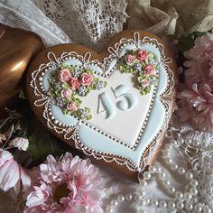 Anniversary cookie, keepsake, gingerbread cookie, birthday cookie, heart cookie