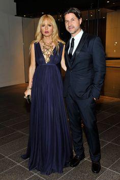 Rachel Zoe (in a deep navy Salvatore Ferragamo gown) and Rodger Berman.  (October 2013)