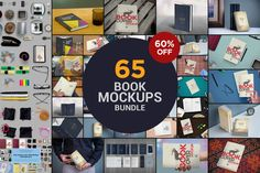 The Book Mockups Bundle by ZippyPixels on @creativemarket