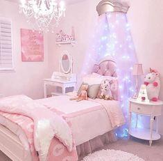 Habitaciones bellas Unicorn Bedroom, Unicorn Rooms, Unicorn Room Decor, Big Girl Rooms, Little Girl Bedrooms, Little Girls, Toddler Rooms, Toddler Bed, Kids Rooms