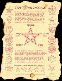 The different types of pentagrams