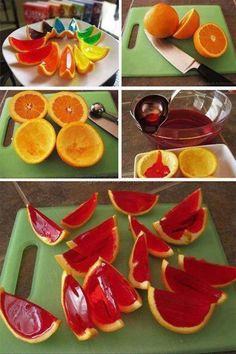 Party snacks. Cool way to make serve jello