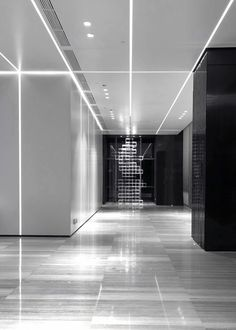 View the full picture gallery of Technological Innovation Design Entrée, Lobby Design, Library Architecture, Light Architecture, Architecture Interiors, Lobby Interior, Interior Lighting, Commercial Interior Design, Commercial Interiors