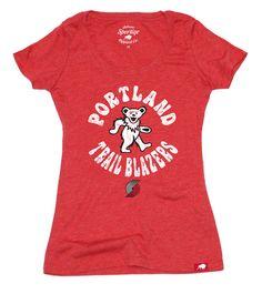 Womens Portland Trail Blazers Grateful Dead Shirt by Sportiqe