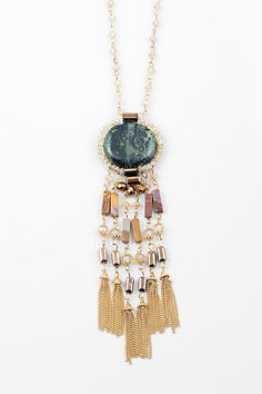 Millan Necklace in Emerald Agate