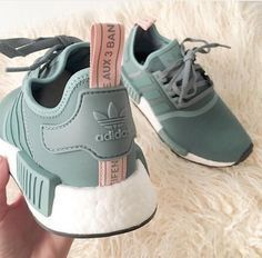 8f01d58d3 shoes adidas olive green pink green adidas shoes adida nmd r-1 sneakers adidas  nmd