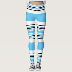 Shop Ethnic tribal pattern blue hipster workout leggings created by mensgifts. Modern Tribe, Cute Leggings, Elegant Chic, Butt Workout, Beautiful Patterns, Workout Leggings, Leggings Fashion, Sports Women, Blue Stripes