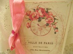 French  Inspired  Card  Adorned With Pink Seam by ShoppeLaFluer, $5.00