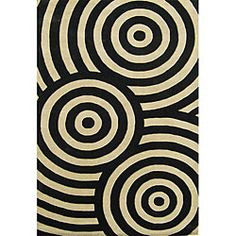 @Overstock - Add warmth and color to your home with this captivating handmade wool rug. This modern rug has a black spiral print with shades of black and beige. The pattern complements a variety of contemporary interior designs.http://www.overstock.com/Home-Garden/Hand-tufted-Metro-Circle-Beige-Black-Wool-Rug-8-x-10/5016962/product.html?CID=214117 $240.99