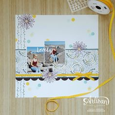 My top 5 favourite products from the Stampin' Up! catalogue - Paula Dobson for Fancy Friday Scrapbook Templates, My Scrapbook, Scrapbooking Layouts, Photo Layouts, Book Layouts, Daisy Delight Stampin' Up, Cover Pages, Daffodils, Scrapbooks