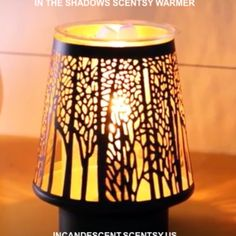 IN THE SHADOWS SCENTSY WARMER INCANDESCENT.SCENTSY.US