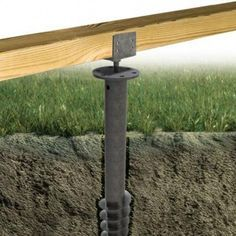 vis de fondation pour installer des lambourdes pour terrasse bois sans plots, sans dalle béton.