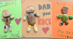 Do you know a Dad who rocks? Celebrate him with this silly, simple craft. Kids will love decorating little rocks to look like their dad!