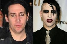 Marylin Manson  Celebrities Without Makeup : theBERRY
