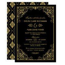 Shop Zazzle's luxurious range of Art Deco custom wedding invitations. Art Deco Wedding Invitations, Wedding Invitation Templates, Wedding Dinner Menu, Menu Cards, Art Deco Fashion, Christmas Sale, Valentines, Style, 50 Years Old