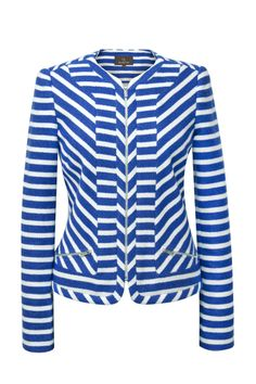 Melanie Lyne - Blue and White Jacket #springsentials