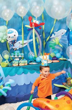 Check out our #Octonauts tablescape #BirthdayExpress