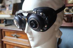 Kožené brýle steampunk