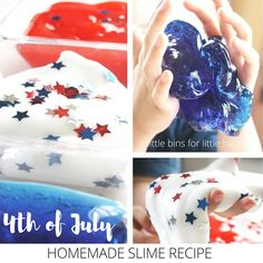 4th of July Slime Activity for Independence Day