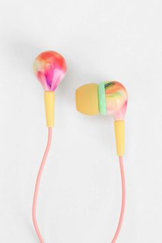 Urban Outfitters, Printed Earbud Headphones (Assorted). #NationalHandbagDay