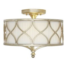 Found it at Wayfair - Tiffany 3 Light Semi Flush Mount