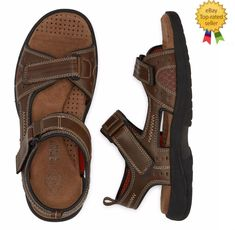 b771e3415fa St Johns Bay Mens Sandals Mansel Strap Memory Foam Brown size 13 NEW https