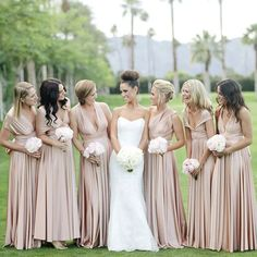 34a0832811c78 Cheap Convertible Jersey Elegant Long Wedding Bridesmaid Dresses, WG369