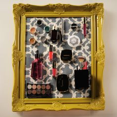 Mornings just got easier with this genius magnetic makeup board. Learn how to make it (it's easy!)