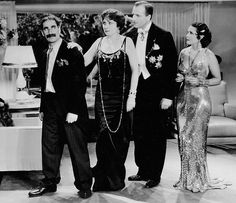 """Rufus T. Firefly (Groucho Marx): """"I got a good mind to join a club and beat you over the head with it."""" -- from Duck Soup (1933) directed by Leo McCarey"""
