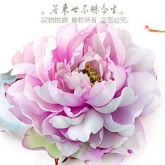 High-end hand-made a-product tianxiang wealth Zhenxiang. Classical simulation Italian sense of style the water purple peony painting flower head  $15.97