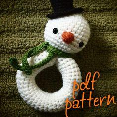 Baby's First Snowman Rattle Amigurumi Crochet PDF Pattern | Cool Crochet Patterns | Scoop.it