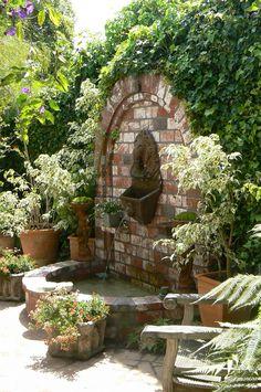 Lion head fountain