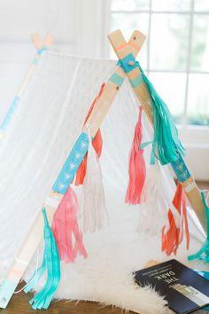 DIY No-Sew A-frame Tent – Style Me Pretty