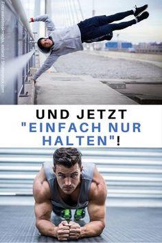 Halteübungen kann man einfach oder schwer gestalten - aber sie bauen in jeder Form Muskeln auf und sind effektiv!